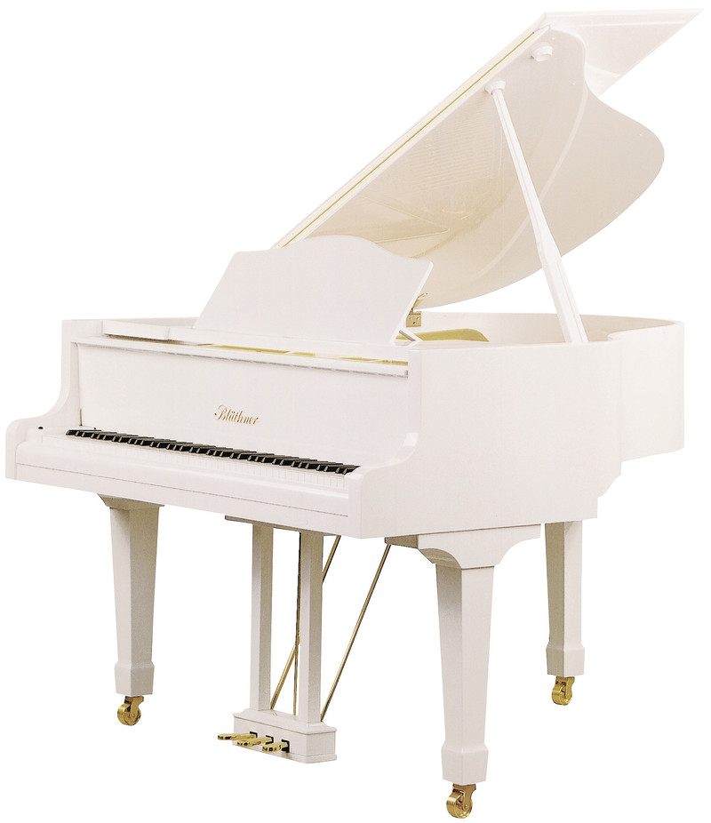 Piano queue julius bl thner mod 10 166 0 cm art for Piano blanc a queue