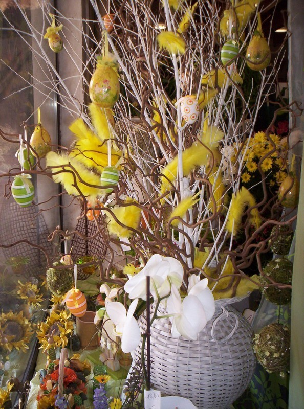 F te p ques isabelle fleurs - Decoration paques vitrine ...