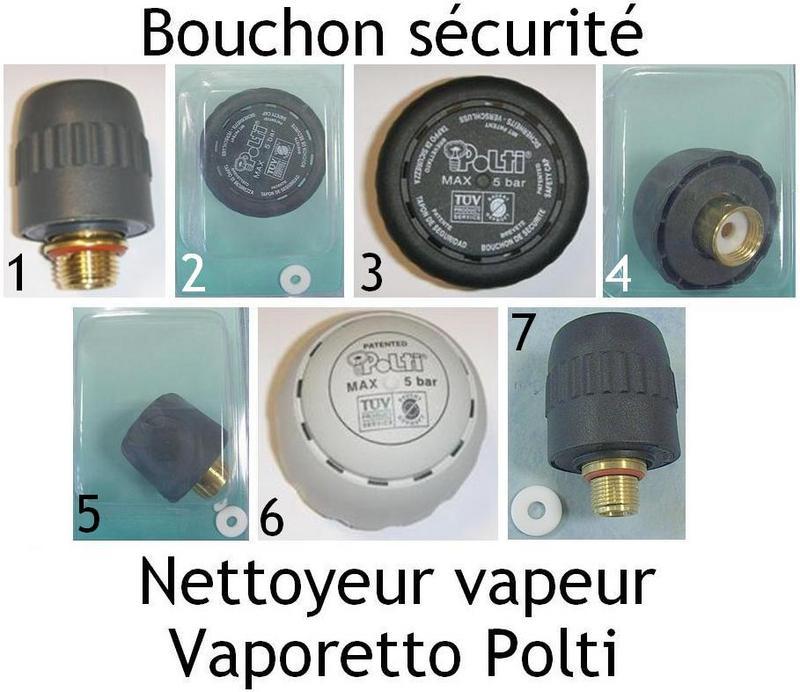 Bouchon s curit polti pi ces d tach es vaporetto accessoire mena isere ser - Vorwerk nettoyeur vapeur ...